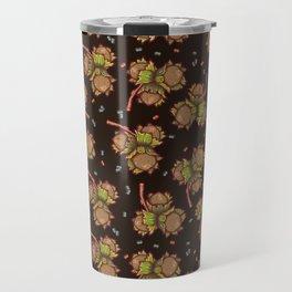 Dark hazelnuts pattern Travel Mug