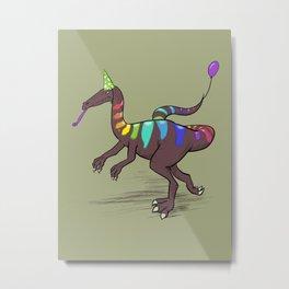 Coelophysis Rainbow Pary Dino Metal Print