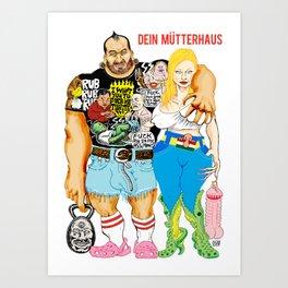 DEIN MUTTERHUS Art Print
