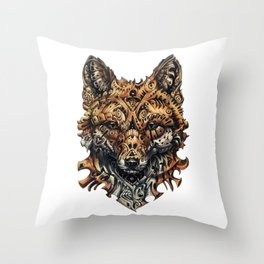 Steampunk - Fox Throw Pillow