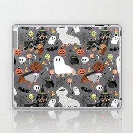 Dachshund dog breed halloween cute pattern doxie dachsie dog costumes Laptop & iPad Skin