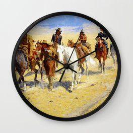 "Frederic Remington Art ""Pony Tracks In the Buffalo Trail"" Wall Clock"