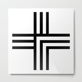 Geometric Swiss Cross Metal Print