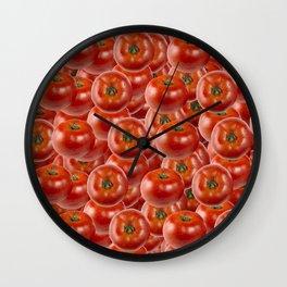 Tomatoes pattern Wall Clock