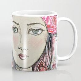 Be Your Own Kind of Beautiful Mixed Media Girl Coffee Mug