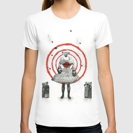 Woman with stones T-shirt