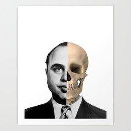 Capone Skull Art Print