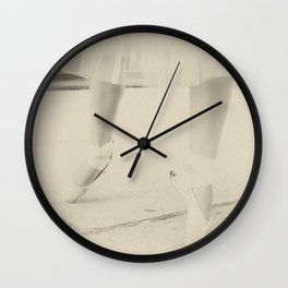 On Her Toes Wall Clock