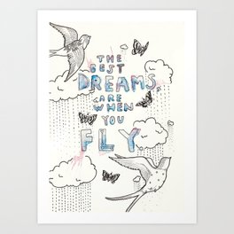A dreamy collaboration: Dreams Art Print