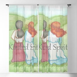 Kindred Spirits Anne of Green Gables Sheer Curtain