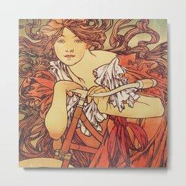Alphonse Mucha Cycles Perfecta (Alfons Mucha) Metal Print