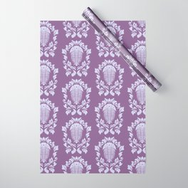 Trilobite's Damask -- Purple Wrapping Paper