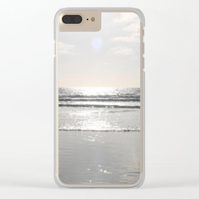 Down by the ocean Clear iPhone Case