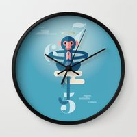 pixies Wall Clocks featuring Monkey Gone to Heaven by DWatson