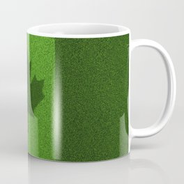 Grass flag Canada / 3D render of Canadian flag grown from grass Coffee Mug