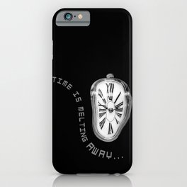 Salvador Dali Inspired Melting Clock. Time is melting away. iPhone Case