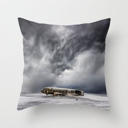 Crash Site Sólheimasandur Throw Pillow