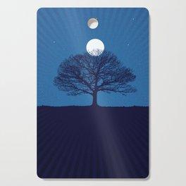 Moonrise of a winter tree Cutting Board