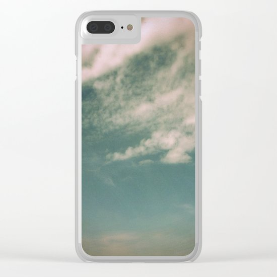 Minimal Clouds Clear iPhone Case