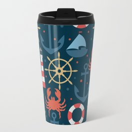 Sea blue pattern Travel Mug