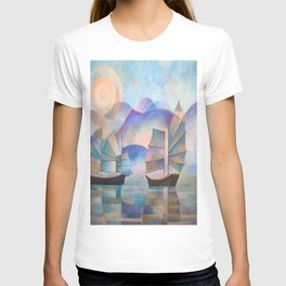 Shades of Tranquility - Cubist Junks T-shirt