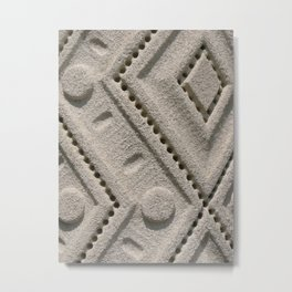 Textured Geometry Metal Print
