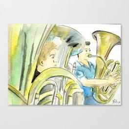 Tree tubas Canvas Print