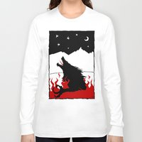 werewolf Long Sleeve T-shirts featuring Werewolf by FROM THE ABYSS TO THE STARS