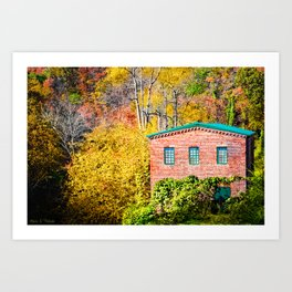 Fall Colors And The Old Roswell Mill Art Print