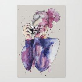 Selfie by carographic Canvas Print