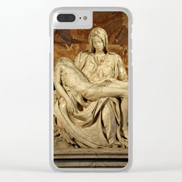 "Michelangelo Buonarroti ""Pietà"" Clear iPhone Case"