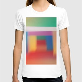 Colored blur background 3 T-shirt