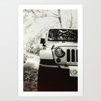 jeep Art Prints featuring Jeep by selfishmistakes