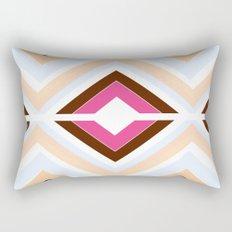 Mod stripes in raspberry Rectangular Pillow