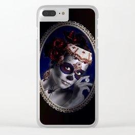 Lovely Sugarskullgirl Clear iPhone Case