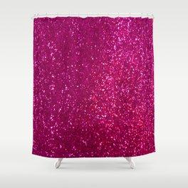 Glamours Fuchsia Glitter Shower Curtain