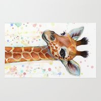 baby Area & Throw Rugs featuring Giraffe Baby by Olechka