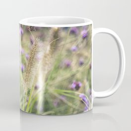 Wild ears and purple wild flowers Coffee Mug