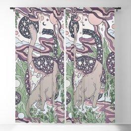Jurassic Portal   Purple Haze Palette   Dinosaur Science Fiction Art Blackout Curtain