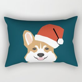 Corgi Christmas  santa claus costume for cute welsh corgi pet dog lover gift for the corgi person Rectangular Pillow