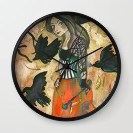 Raven Witch - Grimm Autumn Wall Clock