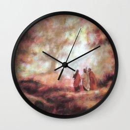 Luke 9 - Jesus Christ - religious prints Wall Clock