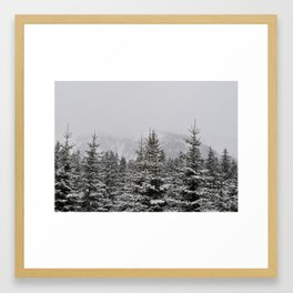 Snowy mountains Framed Art Print