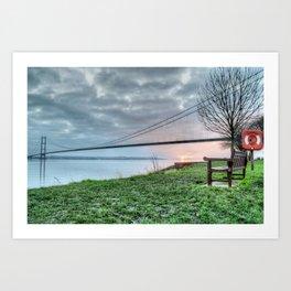 Sunset at the Humber Bridge Art Print