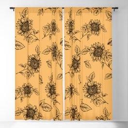 Vintage Sunflower Pattern  Blackout Curtain