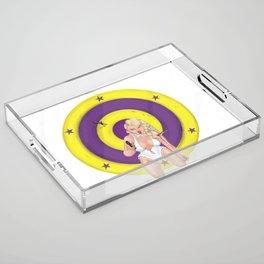 Knifethrower's Wife Acrylic Tray