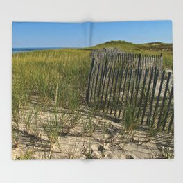 Cape Cod Beach Dunes Throw Blanket