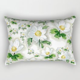 Alpine Flowers Anemones Rectangular Pillow