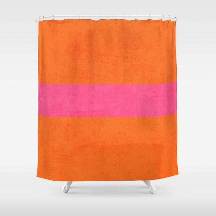 Orange And Hot Pink Classic Shower Curtain