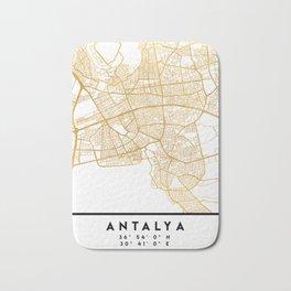 ANTALYA TURKEY CITY STREET MAP ART Bath Mat